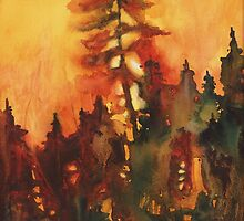 Forest Fire #1 by Tonja Opperman