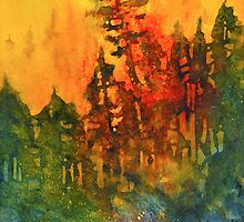 Forest Fire #5 by Tonja Opperman
