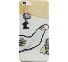 1969 watercolr with basket iPhone Case/Skin