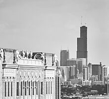 Uptown Chicago Skyline by Kadwell