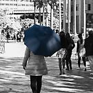 The Lady with the Blue Umbrella 2 by Deborah McGrath