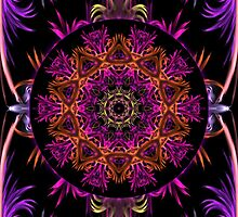 Colour Digital Abstract with Kaleidoscope insert by fantasytripp