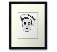 Buster Keaton in Classic Black & White Framed Print