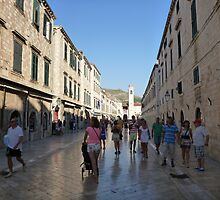Dubrovnik old town stradum by machka