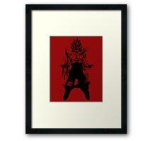Saiyan Power up Framed Print
