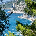 Skopelos Cliffs by David Bradbury