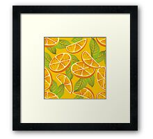 Orange background Framed Print