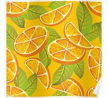 Orange background Poster