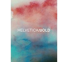 Helvetica Bold Photographic Print