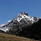 snowy mountains of Andorra La Vella by arnau2098
