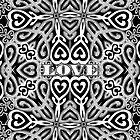 Ornate Love Hearts | Black and White by webgrrl