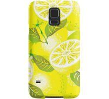 Lemon background Samsung Galaxy Case/Skin