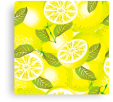 Lemon background Canvas Print