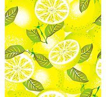 Lemon background Photographic Print