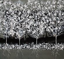 Pear Blossom Trees by Amber Elizabeth Lamoreaux