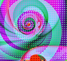 Colourful Swirls and Dots by walstraasart