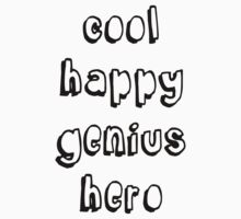 Cool Happy Genius Hero Kids Clothes