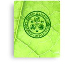 Hero's Mark (Dark Green) Canvas Print