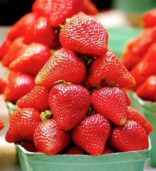 Strawberry Pyramid... by Carol Clifford