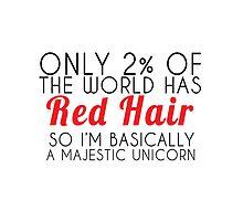 red hair majestic unicorn by Glamfoxx