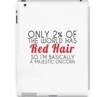 red hair majestic unicorn iPad Case/Skin