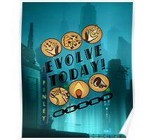 Evolve Today! (Splatter) Poster