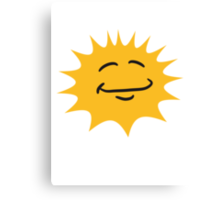 Radiant sun face smiley happy Canvas Print