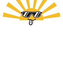 Sunrise Sunglasses Cool Funny Face by Style-O-Mat
