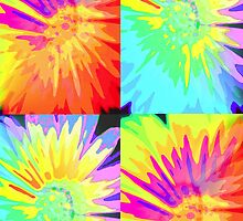 Abstract Daisies by Artisimo