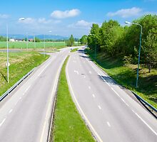 Empty highway by Stanciuc