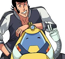 Space Dandy and QT by scittykitty