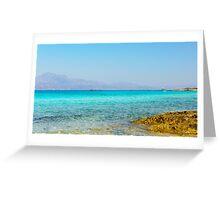 Amazing Beach of Chrissi Island, near Crete, Greece Greeting Card