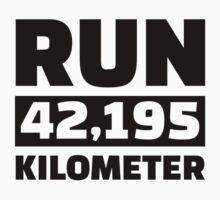 Run 42,195 kilometer by Designzz