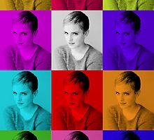 Emma Watson Tiled Pop Art Design by echorose