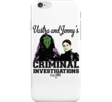Vastra and Jenny's Criminal Investigations iPhone Case/Skin