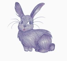 Shy Purple Bunny Kids Clothes