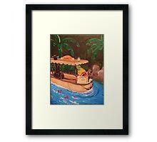 Screaming Pineapple Jungle Cruise Skipper Framed Print