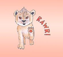 "Lion Cub Says ""Rawr!"" by ArtsyRosey"