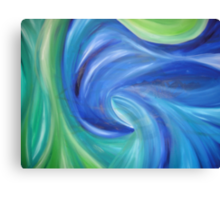 Waves of Blue Canvas Print