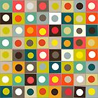 retro boxed dots by Sharon Turner