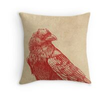 Red Raven  Throw Pillow