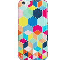 Super Bright Color Fun Hexagon Pattern iPhone Case/Skin