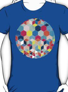 Super Bright Color Fun Hexagon Pattern T-Shirt