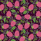 Juicy raspberries. by smalldrawing
