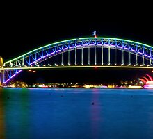 Sydney Harbour Bridge and Opera House by Hilarynathan