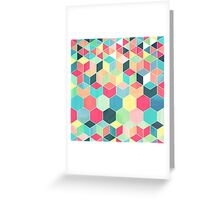 Yummy Summer Colour Honeycomb Pattern Greeting Card