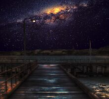Starglow by the pier by mellosphoto