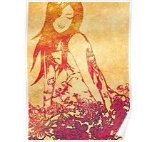 Girl in flowers Poster