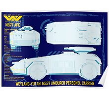 WEYLAND-YUTANI M557 AMOURED PERSONEL CARRIER Poster