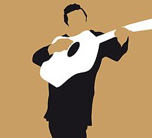 No010 MY Johnny Cash Minimal Music poster by Chungkong